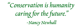 Conservation is humanity caring for the future. - Nancy Newhall
